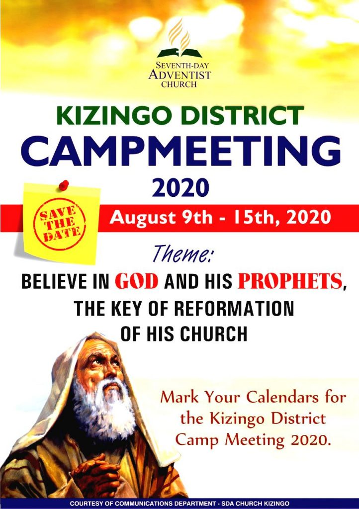 THE KIZINGO DISTRICT CAMP MEETING FOR THE YEAR 2020!!!!